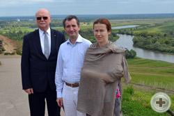 О.В.Щербачев с супругой и князь Г.Г.Гагарин на «Чёртовом городище»