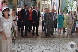 Члены делегации РДС за молебном в День Тезоименитства Главы Дома Романовых