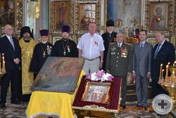 Награждённые с членами делегации РДС и клириками Преображенского собора