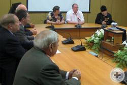 Встреча делегации РДС с мэром Елабуги Г.Е.Емельянов (на фото – справа)