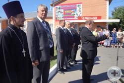 Предводитель Воронежского Дворянского Собрания Г.Н.Шимко зачитывает Приветствие от руководства РДС