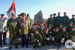 Участники торжественного открытия памятника героям Первой мировой войны