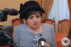 Предводитель Дворянского Собрания Кубани Е.М.Сухачева дает интервью кубанским СМИ