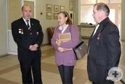 Открытие фотовыставки. Слева направо: Геннадий Шимко, Ольга Кванина, Сергей Соболев