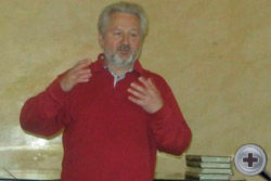 М.Ю.Лермонтов выступает перед участниками заседания Совета Объединённого Дворянства
