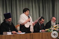 Выступление предводителя Дворянского Собрания Кубани Е.М. Сухачевой