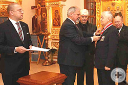 Возложении на В.Д.Конева Императорского и Царского Ордена Святого Станислава II степени
