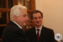 О.В.Щербачев (справа) и член РДС В.Б.Арутинов