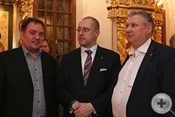 Павел Коробов (слева) с А.Н.Закатовым и Г.Ю.Лукьяновым