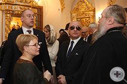 Беседуют иеромонах Никон (Левачев-Белавенец), В.Э.Якобидзе, А.Н.Закатов и Е.В.Баяхчян