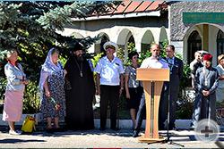 От лица делегации потомков на митинге выступили Л.В.Скульская и Г.В.Корнилова