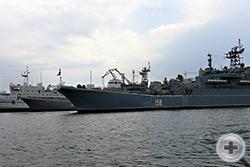 Боевые корабли ЧМФ в севастопольской бухте