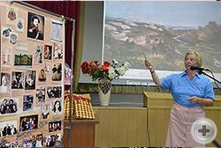 Встреча с сотрудниками НМГООС. Выступает Л.В.Скульская, родственница первого градоначальника Севастополя