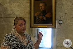 Г.В.Корнилова в Оборонительной башне Малахова кургана
