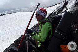 Оксана Батаева перед выходом к вершине Эльбруса