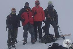 Группа на вершине Эльбруса. Крайняя слева - Оксана Батаева