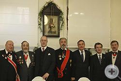 Группа кавалеров вместе с директором Канцелярии Главы Российского Императорского Дома после богослужения