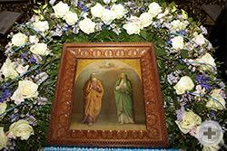 Икона свв. праведных Симеона Богоприимца и Анны Пророчицы в храме святого пророка Илии, что в Обыденском переулке в Москве