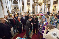 Вручение Императорских наград в Свято-Троицком соборе