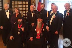 Общий снимок кавалеров Императорских орденов и наград в здании Общества кадет и ветеранов Первой мировой войны в Сан-Франциско