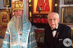 Кавалеры Императорского ордена Святой Анны 1-й степени Высокопреосвященный Кирилл, архиепископ Сан-Францисский и Западно-Американский и Георгий Васильевич Куманский