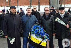 Участники Фонда «Имперское наследие» во главе с Евгением Валерьевичем Алексеевым (в центре, в синей куртке)