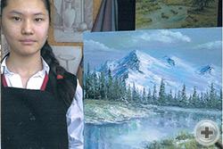 Диана Ринат, 14 лет (Казахстан), «Мои любимые горы»