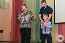 Г.В.Корнилова представляет своего правнука Вадима Тулисова-Корнилова