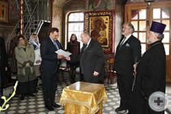 Вручение Благодарственного письма капитану 1 ранга С.А.Спиридонову