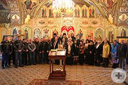 Общее фото участвовавших в Торжественном молебне в Введенском храме у Салтыкова моста