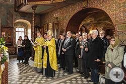 Начало молебна в храме Архистратига Михаила