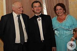 Юбиляра поздравили Николай Михайлович Орлов и его сестра Надежда Михайловна Орлова
