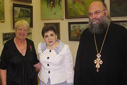 Поздравление председателя Попечительского совета Г.И.Маяковской с награждением Аннинской медалью