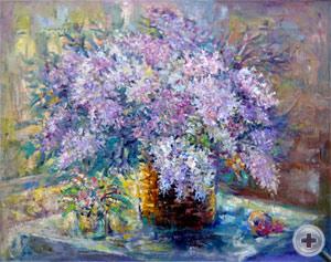 Сирень на окне. Наталья Баженова