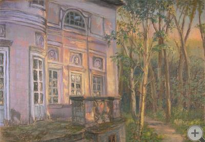 Волынщина-Полуэктово на закате солнца. Екатерина Голицына
