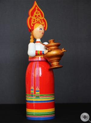 Кукла в русском народном костюме. Костюм невесты