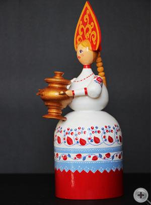 Кукла в русском народном костюме. Костюм девичий праздничный