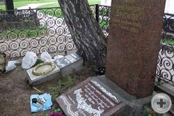 Захоронение генералов А.А.Брусилова и Р.Н.Яхонтова в Новодевичьем монастыре