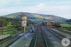 1909 | Вид с задней площадки у станции Симская Самаро-Златоустовской железной дороги