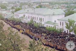 1911 | Вид с Троицкого собора во время торжеств прославления Святителя Иоасафа Белгородского