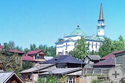 1910 | Главная мечеть Уфы со Случевской горы. Местожительство муфтия