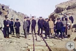 1916 | Группа участников железнодорожной постройки. Кемь