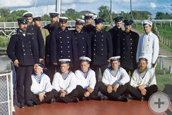 "1909 | Команда парохода ""Шексна"" М.П.С."