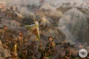 Фрагмент диорамы «Альпийский поход А.В.Суворова»