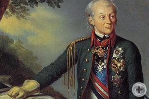 «Портрет А. В. Суворова» (1815). Художник К. Штейбен
